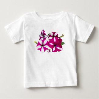 Camiseta Para Bebê Quatro vermelhos e petúnias brancos