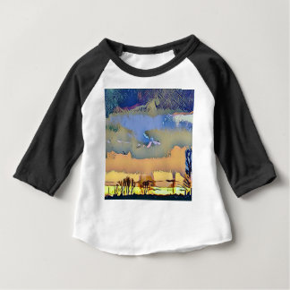 Camiseta Para Bebê Queda clara colorida céu abstrato tonificado do