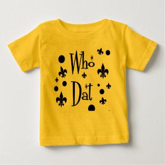 Camiseta Para Bebê Quem t-shirt de Dat