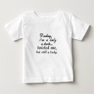 Camiseta Para Bebê querido eu sou uma senhora um torcida a escura