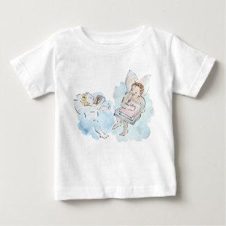 Camiseta Para Bebê Querubim - anjinhos