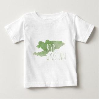 Camiseta Para Bebê Quirguistão