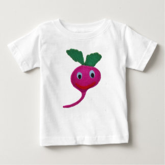 Camiseta Para Bebê Rabanete