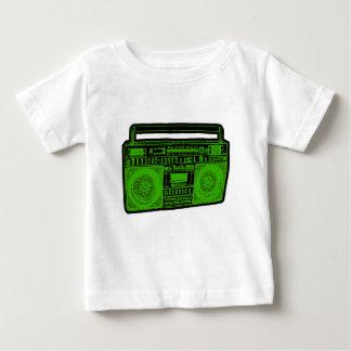 Camiseta Para Bebê rádio do dinamitador do gueto do boombox