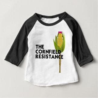 Camiseta Para Bebê Raglan do bebê - a resistência do campo de milho