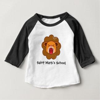 Camiseta Para Bebê Raglan do leão de Lil