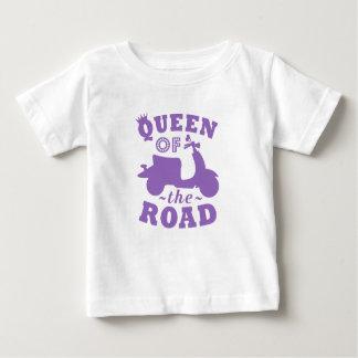 Camiseta Para Bebê Rainha da estrada - roxo