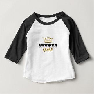 Camiseta Para Bebê Rainha modesta