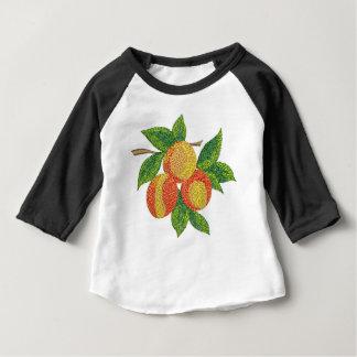 Camiseta Para Bebê ramo do pêssego, imitação do bordado