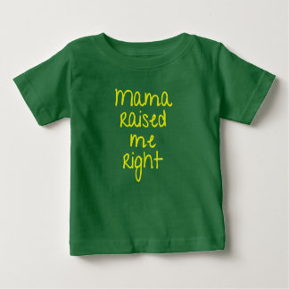 Camiseta Para Bebê Rap do Mama Raised Me Direito Hip Hop