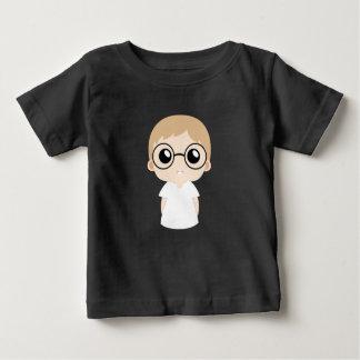Camiseta Para Bebê Rapaz pequeno com vetor dos vidros do olho