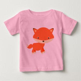 Camiseta Para Bebê Raposa alaranjada
