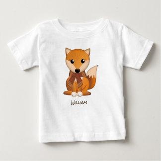 Camiseta Para Bebê Raposa bonito do outono e nome do costume