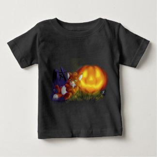 Camiseta Para Bebê raposa do Dia das Bruxas