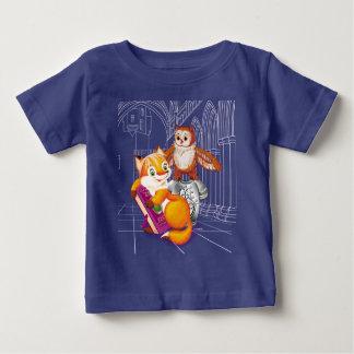 Camiseta Para Bebê raposa e coruja