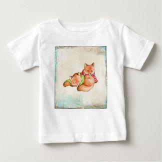 Camiseta Para Bebê Raposas