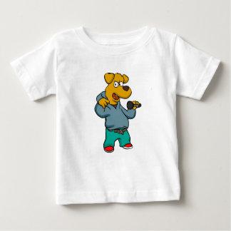 Camiseta Para Bebê Rapper do cão amarelo