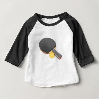 Camiseta Para Bebê Raquete e bola de ténis de mesa