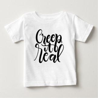 Camiseta Para Bebê Rastejamento ele real
