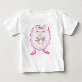 Camiseta Para Bebê rato da bailarina