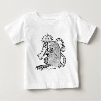 Camiseta Para Bebê Rato do crocodilo