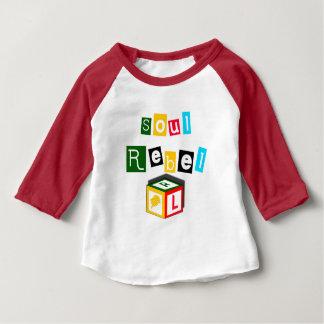 Camiseta Para Bebê Rebelde da alma