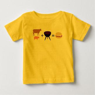 Camiseta Para Bebê Receita do hamburguer do bacon