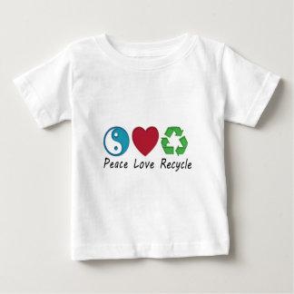 Camiseta Para Bebê Reciclar do amor da paz