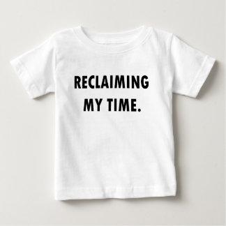 Camiseta Para Bebê RECUPERANDO MEU t-shirt do TEMPO
