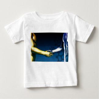 Camiseta Para Bebê Rede da integração do negócio com agitação das