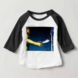 Camiseta Para Bebê Rede da integração do negócio com as mãos que