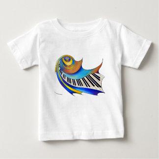 Camiseta Para Bebê Redemessia - piano espiral