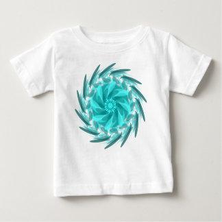Camiseta Para Bebê Redemoinho floral abstrato