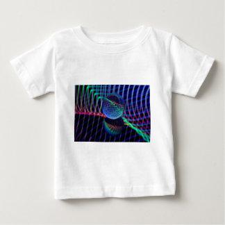 Camiseta Para Bebê Redemoinhos e linhas na bola de vidro