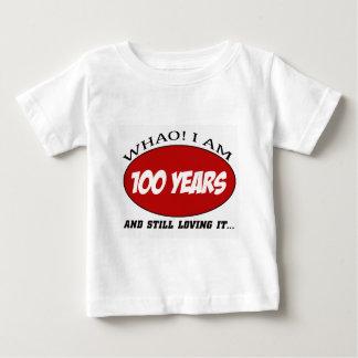 Camiseta Para Bebê refrigere 100 anos de design velho do aniversário