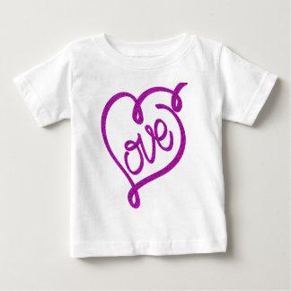 Camiseta Para Bebê refrigere o design bonito do amor