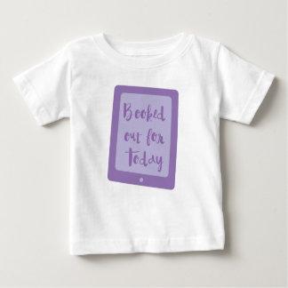 Camiseta Para Bebê registrado para fora para hoje (leitor de e)