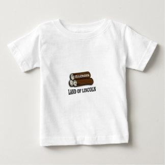 Camiseta Para Bebê Registros de Illinois de Lincoln