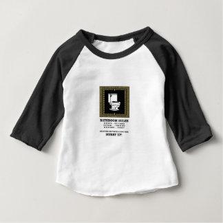 Camiseta Para Bebê regras escuras do banheiro