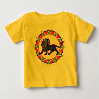 Camiseta Para Bebê Rei Rasta Leão Vintage de Jah