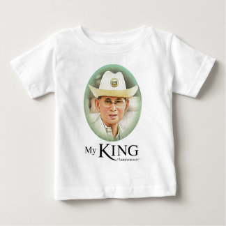 Camiseta Para Bebê Rei tailandês Bhumibol Adulyadej - ภูมิพลอดุลยเดช
