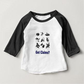 Camiseta Para Bebê reivindicações da dor