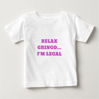 Camiseta Para Bebê Relaxe o Gringo Im legal