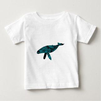 Camiseta Para Bebê Relógio da baleia