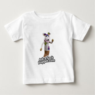 Camiseta Para Bebê Remenda as ondas do fantoche da peúga olá!