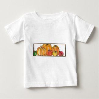 Camiseta Para Bebê Remendo da abóbora - design da abóbora da queda