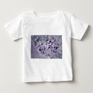 Camiseta Para Bebê Remendo do açafrão da lavanda