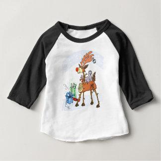 Camiseta Para Bebê Rena da vara
