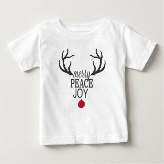 Camiseta Para Bebê Rena moderna do Natal das tendências