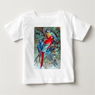 Camiseta Para Bebê Repete mecanicamente a pintura colorida dos